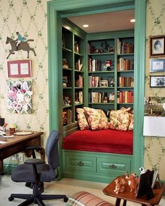 The most cavernous, secretive book nook you will ever find - time to embrace your affinity for stories!