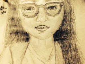 A self portrait by 8th grader Lillie Estes.