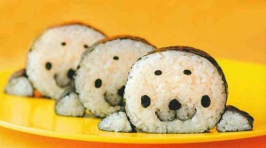 The seal on the sushi!