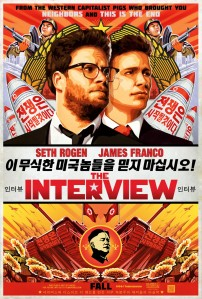 "The film ""The Interview"" is quite the topic for the press. Above is the poster for this American film."